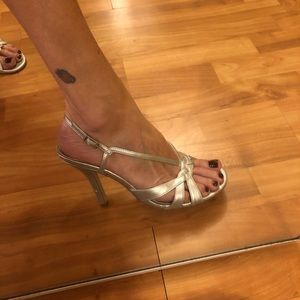Silver Mossimo Party Heels